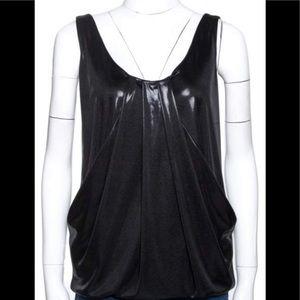 Diane Von Furstenberg Metallic Leeza Top Size 0